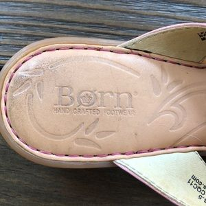 Born Shoes - Born handcrafted footwear Pink flower sandals